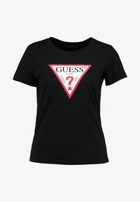 Guess - CREW NECK SS - T-shirt con stampa - black - 3
