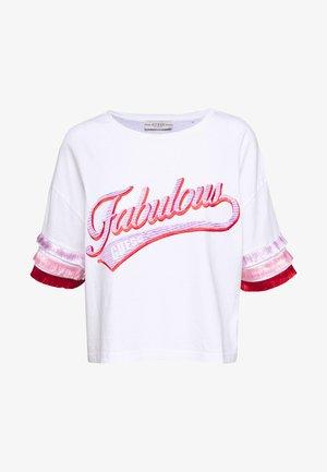 SHERI TEE - Print T-shirt - blanc pur