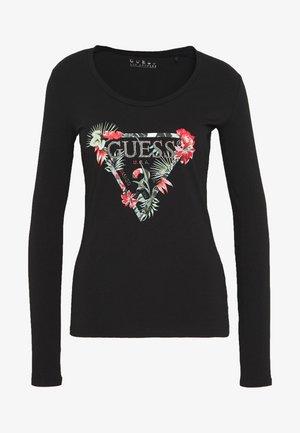 LORELLA TEE - T-shirt à manches longues - jet black