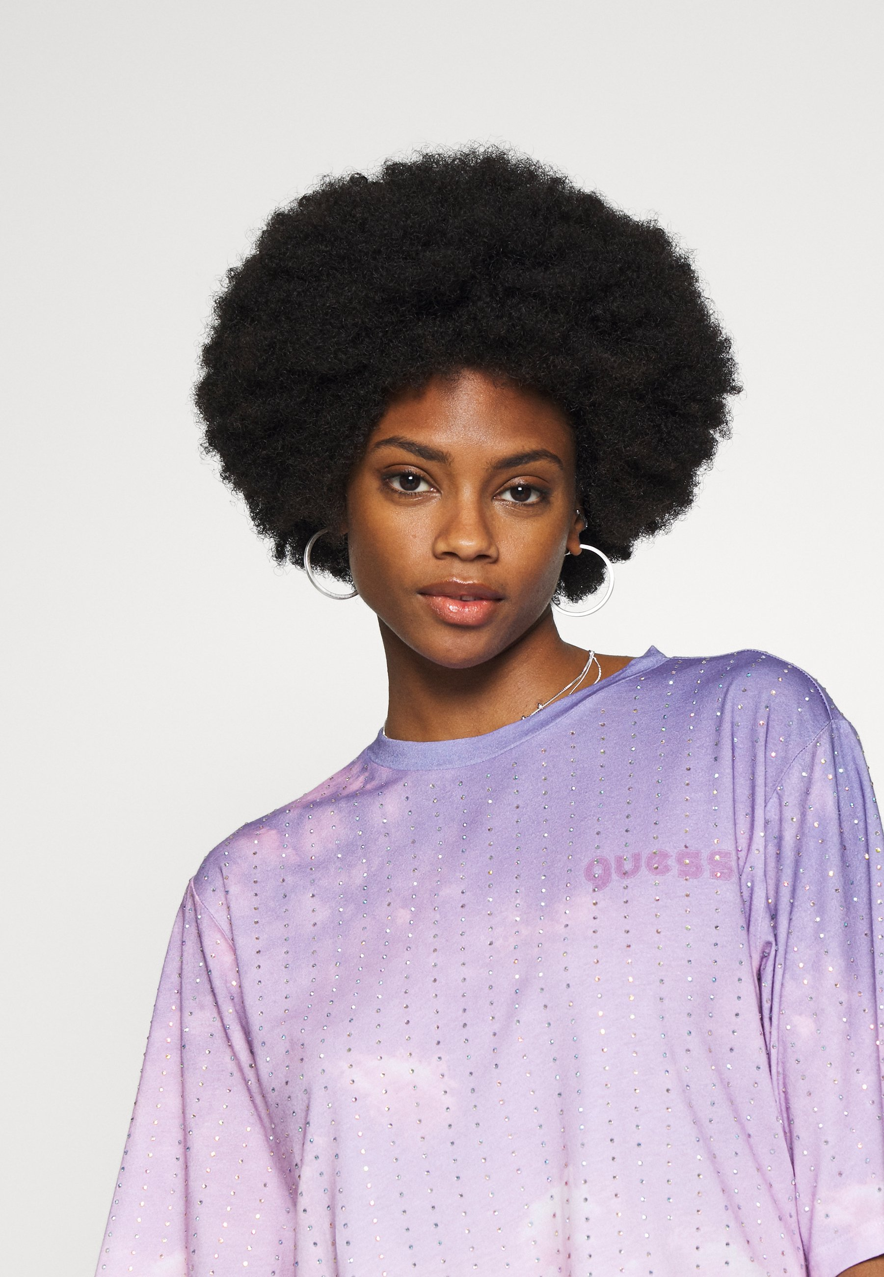 Guess PASTEL TEE - T-shirt con stampa - pink sky combo
