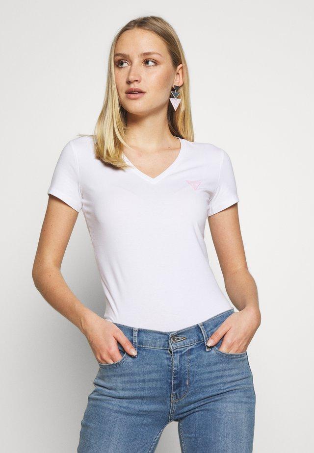 TRIANGLE - T-shirt z nadrukiem - blanc pur