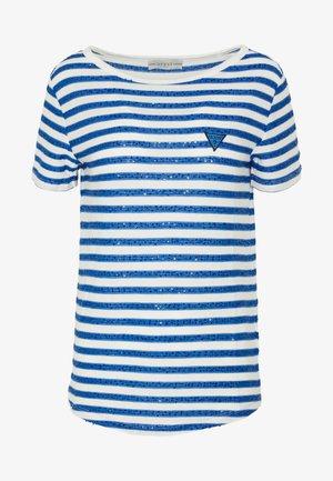 AMAIA - T-shirts med print - white/blue