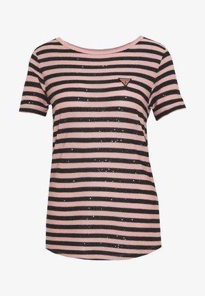 AMAIA - Print T-shirt - black/pink