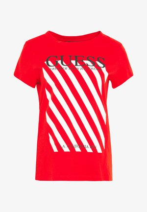 SS RN CREAMY TEE - Camiseta estampada - Firecracker