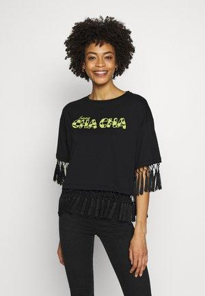 SS RN SALSA TEE - T-shirts med print - jet black