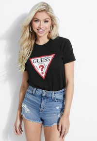 Guess - T-shirt con stampa - black - 0