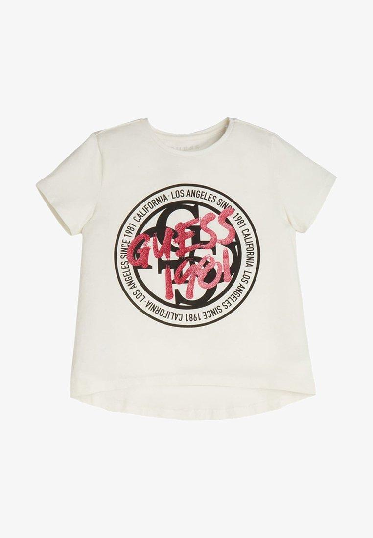Guess - FRONTLOGO - T-shirt z nadrukiem - white