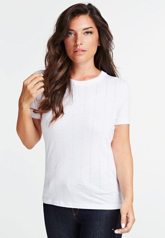 STRASS - T-Shirt print - white