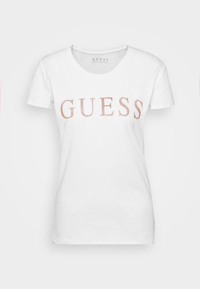 ANGELIKA TEE - T-shirt print - true white