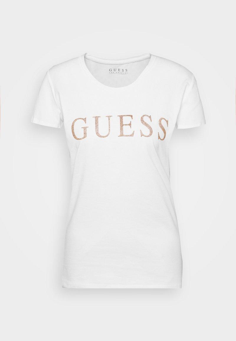 Guess - ANGELIKA TEE - T-shirt print - true white