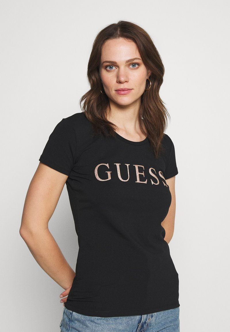Guess - ANGELIKA TEE - T-shirt imprimé - jet black