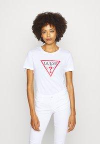 Guess - TATIANA TEE - T-shirt con stampa - true white - 0