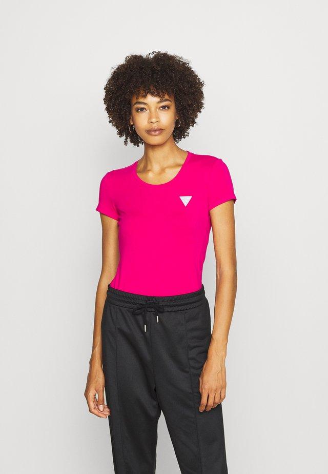 T-shirt z nadrukiem - shocking pink