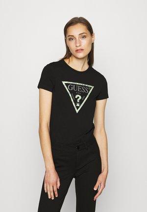 A$AP ROCKY AMBRA - T-shirt z nadrukiem - jet black