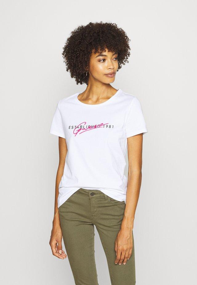 GENZIANA TEE - T-shirt z nadrukiem - true white