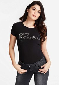 Guess - T-shirt imprimé - black - 0