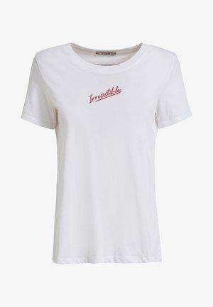 PRINT MITTIG - T-Shirt print - white