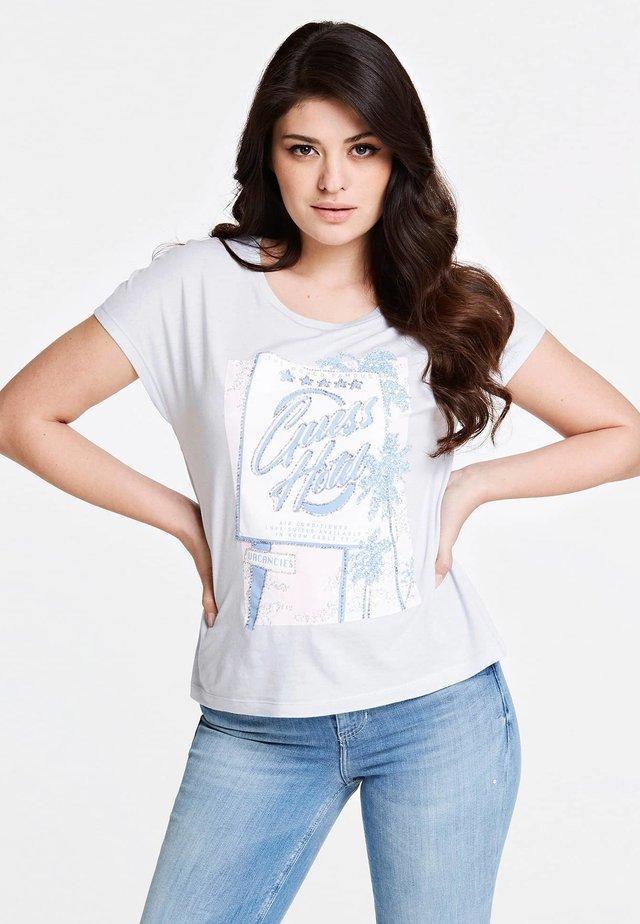 T-SHIRT APPLICATION BIJOU - T-shirt z nadrukiem - himmelblau