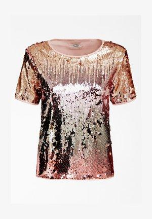 SHIRT PAILETTEN - T-shirt imprimé - mehrfarbe rose