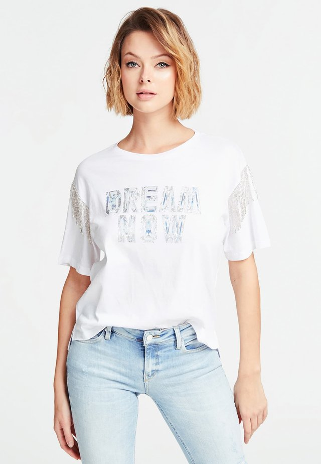 STAMPA PIAZZATA - T-shirt print - bianco