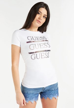 FRONTLOGO - Print T-shirt - weiß