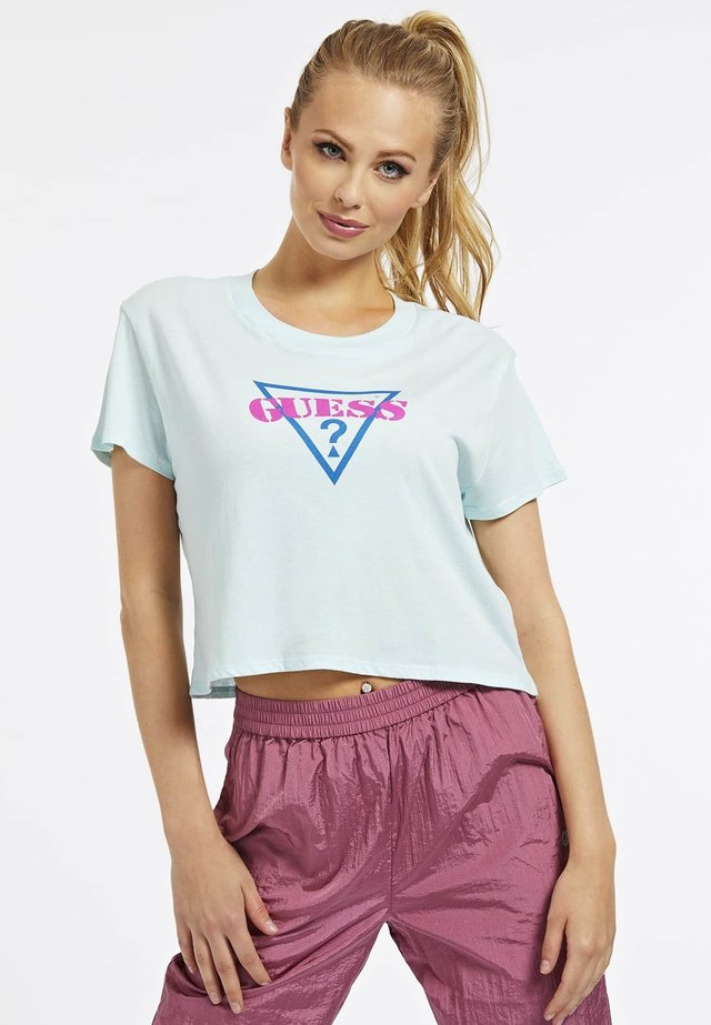 DRIEHOEK - T-shirt z nadrukiem - blauw