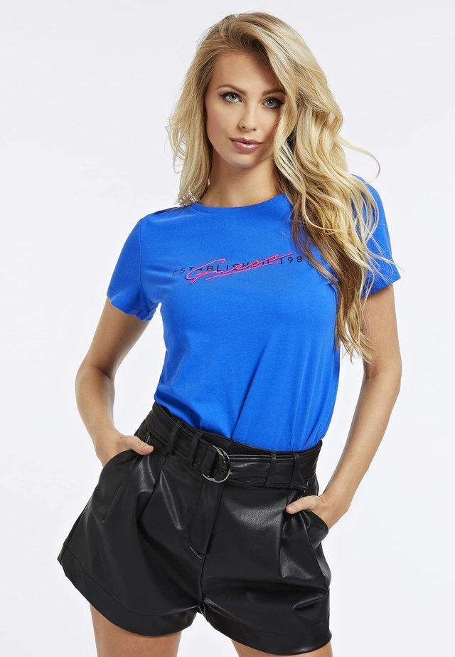 T-shirt z nadrukiem - blauw