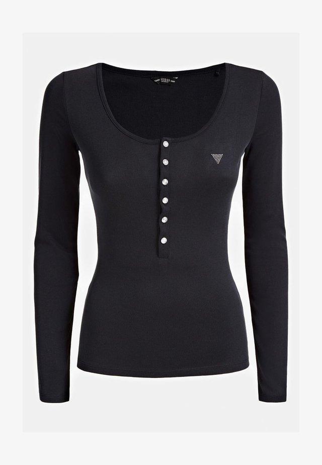 KNOPFVERSCHLUSS - Long sleeved top - schwarz