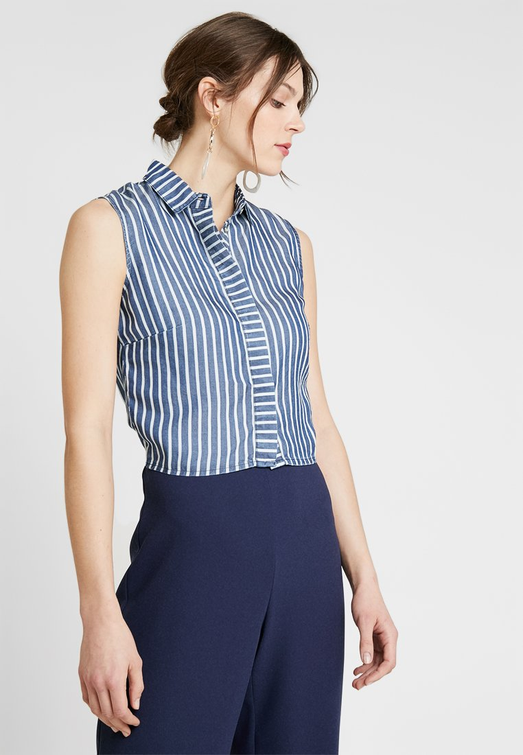 Guess - CALISTA  - Button-down blouse - pin blue