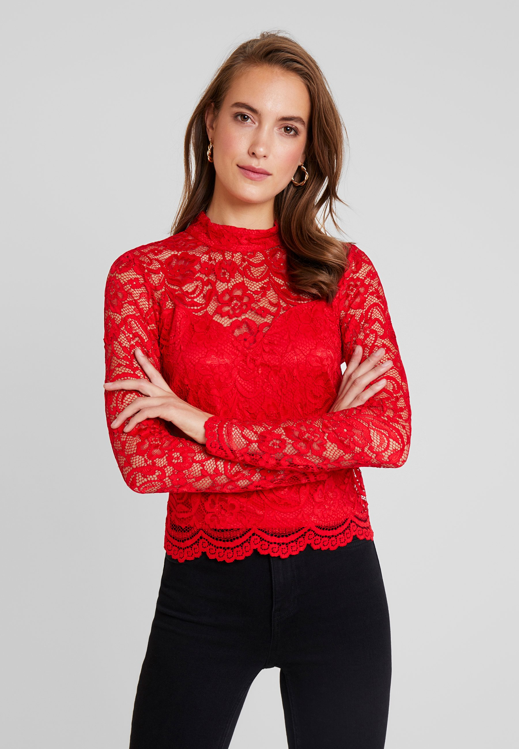 Red Guess GladysBlouse Guess Hot GladysBlouse 9WH2IDE