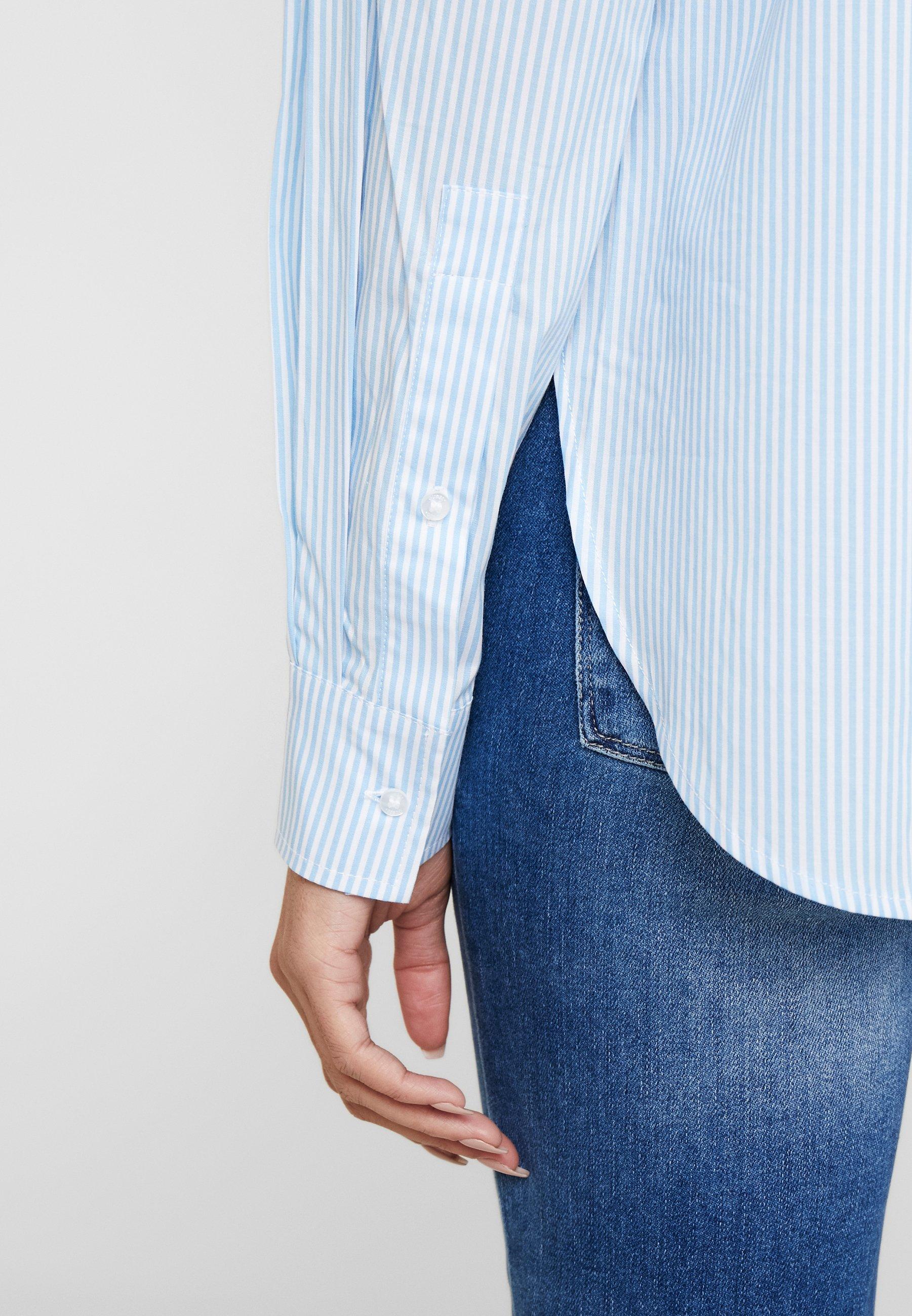 Guess ISA - Skjorte - white/light blue