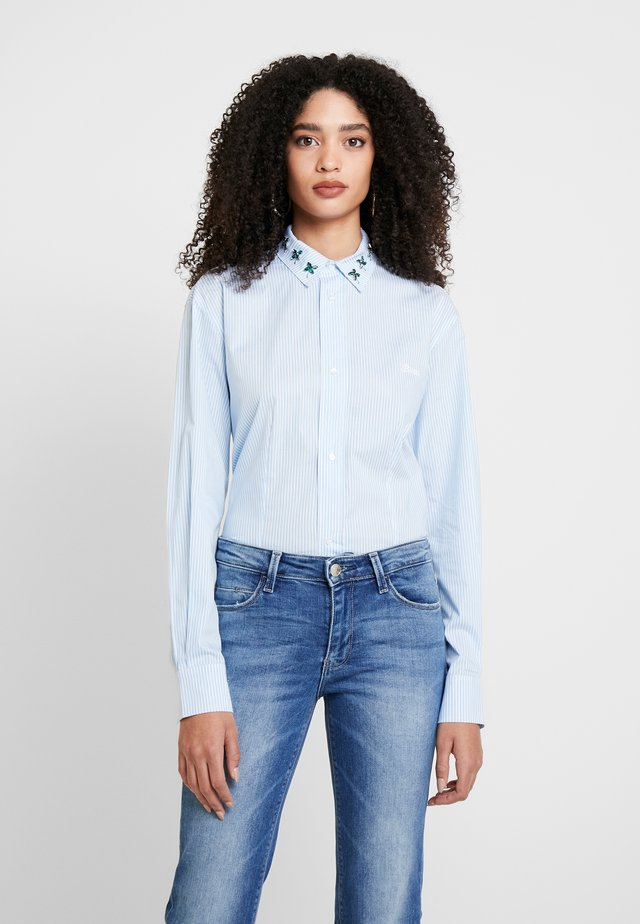 ISA - Overhemdblouse - white/light blue