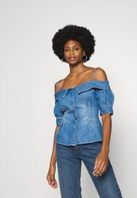 Guess - LEEANNE - Blůza - blue denim - 0