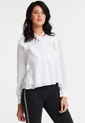 GUESS BLUSE VOLANTS - Blouse - weiß
