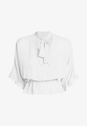 GUESS SCHLUPPENBLUSE - Blouse - weiß