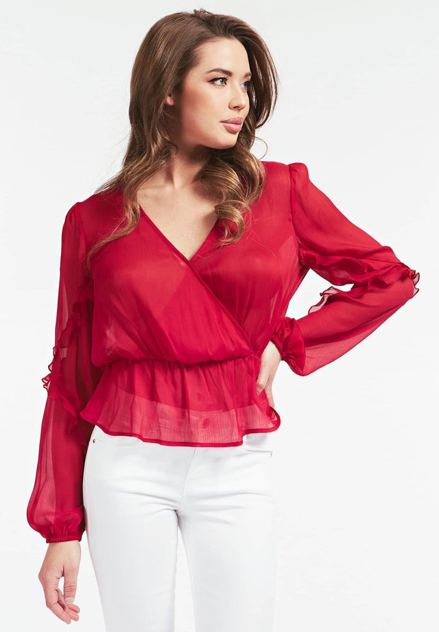 VOLANTS - Blouse - rot