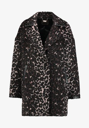 RITA COAT - Manteau court - black/beige