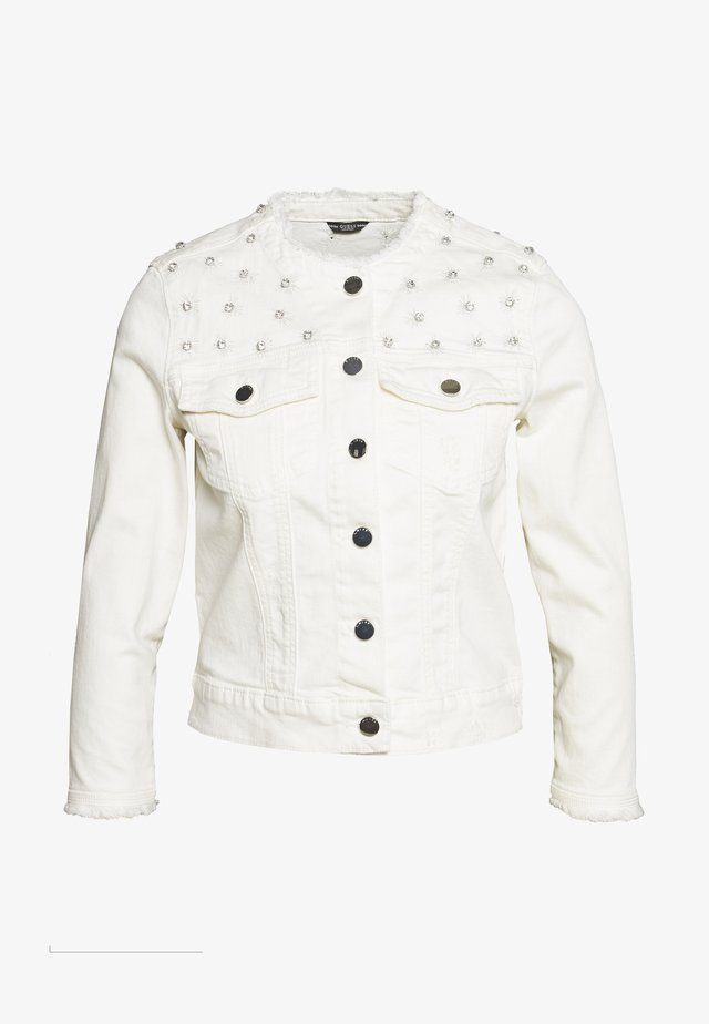 HELLA JACKET - Giacca di jeans - jungle white embelli