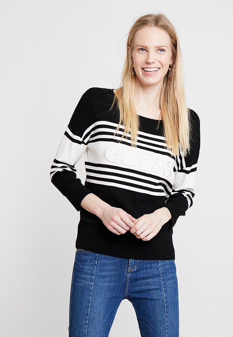 Guess - VIOLANTE - Strickpullover - white/black