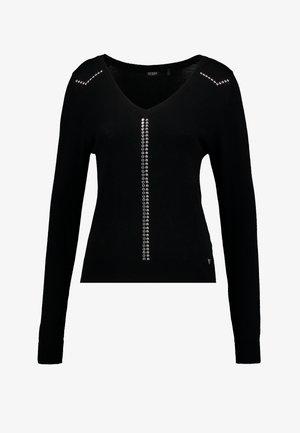 V NECK VIVIANA - Pullover - jet black