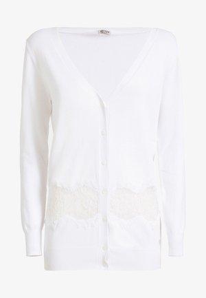 MIT SPITZE - Cardigan - white