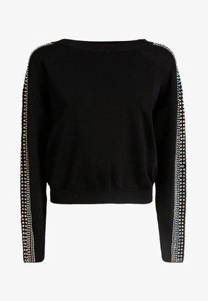 MIT NIETEN - Sweter - black
