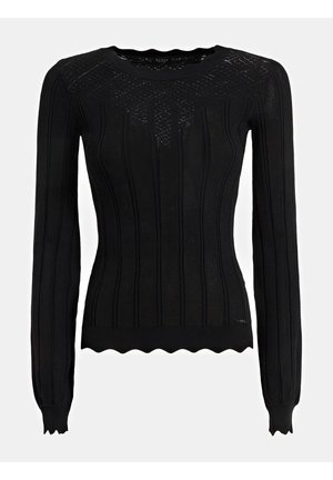 SWEATER VISKOSEMIX - Sweter - schwarz