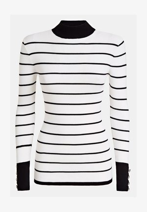 GUESS PULLOVER STREIFENMUSTER - Sweter - mehrfarbig, weiß