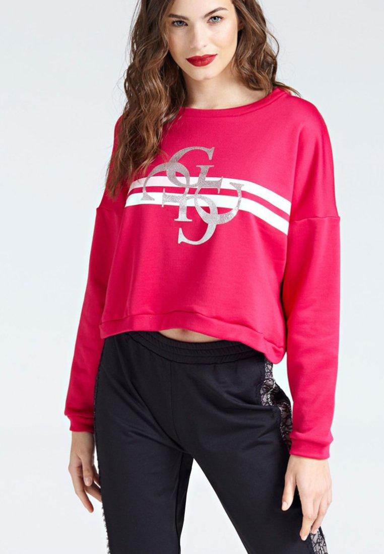 Guess - LOGO - Sweatshirt - fuchsia