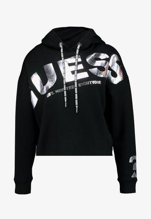 ISADORA FLEECE - Bluza z kapturem - jet black