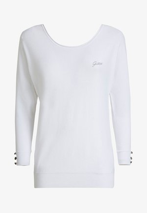 LOGO STRASS - Sweatshirt - white