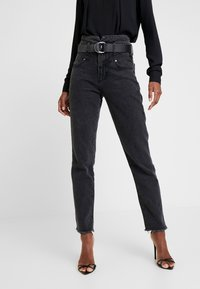 Guess - THE GIRL HIGH - Jeans a sigaretta - meridian black - 0