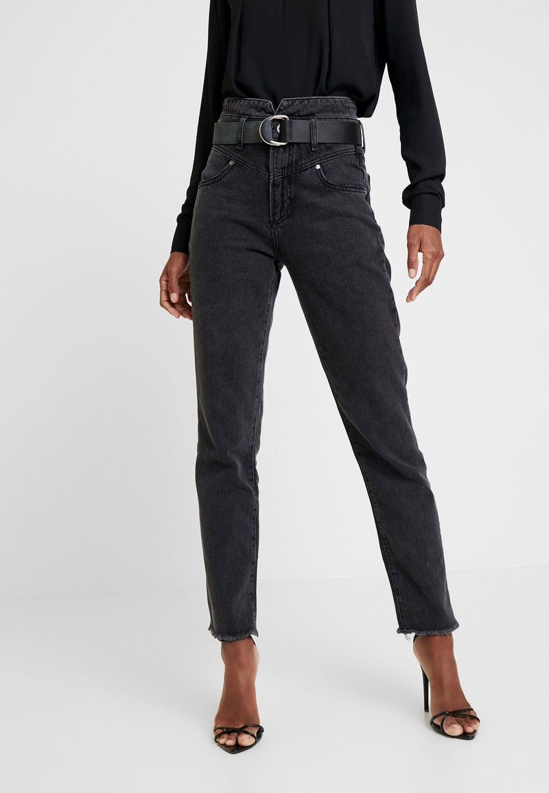 Guess - THE GIRL HIGH - Straight leg jeans - meridian black