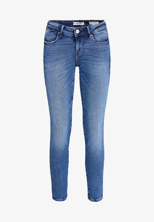 JEANS USED EFFECT - Jeansy Slim Fit - blue